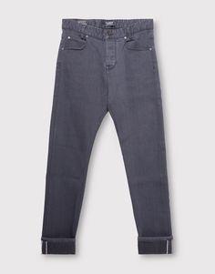 Pull&Bear - homem - vestuário - jeans - calças de ganga skinny fit - cinza antracite - 05684510-I2016