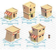 Indiana Jones Adventure World - Egypt village homes Bg Design, Prop Design, Game Design, Game Environment, Environment Concept Art, Environment Design, Low Poly, Isometric Drawing, Isometric Design