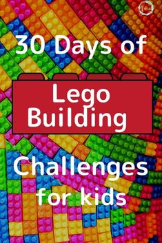 30 Day Lego Challenge for Kids + Printable Calendar This 30 day LEGO challenge for kids is a great way for kids to create and show off their imagination as well. LEGO building is so much fun! Lego Calendar, Kids Calendar, Building For Kids, Lego Building, Lego Projects, Projects For Kids, Lego Challenge, Lego Activities, Lego Craft