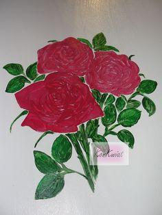 Kwiaty - obraz na meblu dla K.