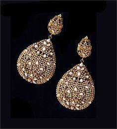 Earrings from Jaipur, the gem city.