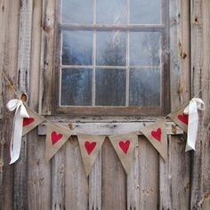 Bunting is one of my favourite DIY decorations. It's simple, it's easy to make and it's so charming. All you need is some scrap fabric, a little paint and a bit of twine. Thanks to A Blissful Nest for the beautiful inspiration. Chalk Paint Wax, Black Chalk Paint, Heart Stencil, Burlap Garland, Party In A Box, Fabric Scraps, Scrap Fabric, Some Ideas, Happy Valentines Day
