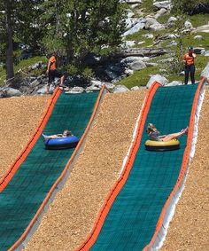 Lake Tahoe - Heavenly Mountain tubing hill is sure to create laughs and excitement for the whole family. Lake Tahoe Summer, Lake Tahoe Vacation, California Vacation, Vacation Trips, Nevada California, Southern California, Vacation Ideas, Lac Tahoe, Family Road Trips