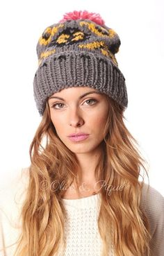 Hand Knitted Pom Beanie from Gypsy Outfitters