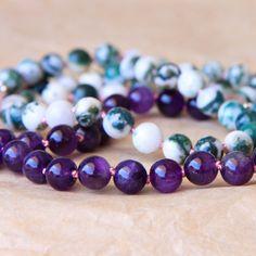 Buddhist Prayer Beads Zen Mala Yoga Jewelry Mantra by MishkaSamuel, $62.00