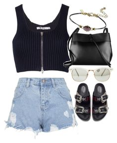 """""""Untitled #3491"""" by glitter-the-world ❤ liked on Polyvore featuring moda, Alexander Wang, Topshop, Kara y Zara"""