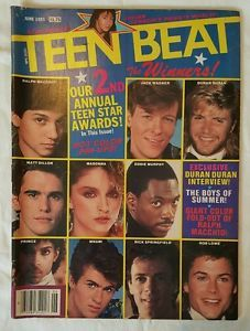 Vintage-Teen-Beat-magazine-June-1985-Patrick-Swayze-Madonna-Simon-Le-Bon-WHAM