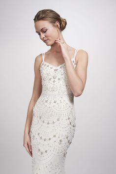 Theia Bridal Astrid Vintage Beaded Sheath Dress