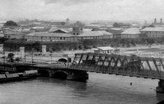 Intramuros, Pasig River, and Bridge of Spain (Puente de Es… Intramuros, Old Photos, Vintage Photos, Fort Santiago, Philippine Architecture, Bridge, Manila, Philippines, The Past