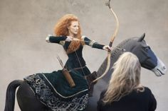 Jessica Chastain Poses As Merida For Disney Dream Portraits Series
