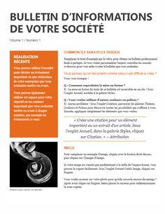 Bulletin D'informations Modele
