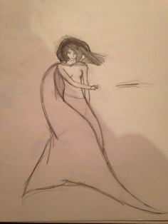 drawing I'm working on...going to refine it a bit, add more detail, and then ink and color it :)