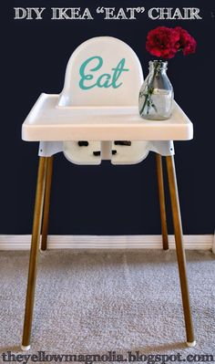 Diy foot rest for ikea antilop high chair secure the - Dish chair ikea ...