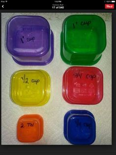 Measurements of 21 day fix containers -good to know for bulk meals- (www.ChefBrandy.com)
