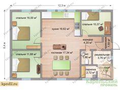 kprofil.ru сильно похож на Trend 91 (Omatalo 101) 12.3*8.4 20 M2, Vintage House Plans, Bedroom House Plans, Big Houses, Home Interior, Home Projects, House Tours, Tiny House, Sweet Home