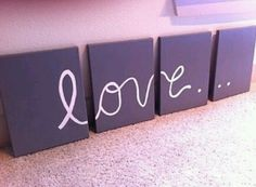 """Dorm decor - DIY canvas art! This is perfect to do for over my bed...I think I'll pick another word though. Maybe """"Abide"""""""