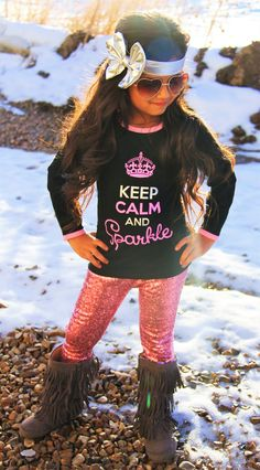 """Keep Calm And Sparkle"" Sequin Pant Set #boutique-outfits #new #perfect-sets"