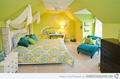 15 Killer Blue and Lime Green Bedroom Design Ideas | Home Design Lover