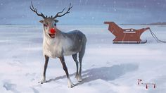 Rudolph the Red-Nosed Reindeer Painting