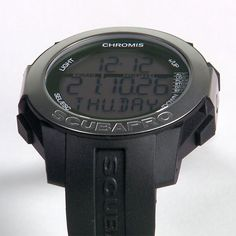 A watch-sized dive computer with a large numeric display, the SCUBAPRO Chromis is loaded with features for all types of water sports, including scuba diving, free diving and recreational swimming. It is nitrox-compatible and boasts a full-function watch mode, making it ideal for daily wear.
