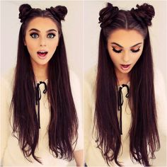 Space buns - funny! I should do this for a themed sci-fi movie/series marathon weekend! (Can't ALWAYS do the Leia-buns..)