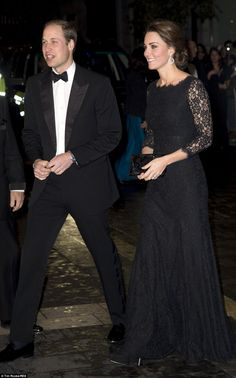 Their Royal Highnesses The Duke and Duchess of Cambridge as they arrived at the Royal Variety Performance