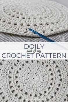 Make this quick & easy crochet doily pattern today! Free Crochet Pattern from Rescued Paw Designs www.rescuedpawdesigns.com