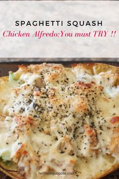 Spaghetti Squash Chicken Alfredo: Slap ya' mama good!