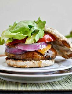 Portobello-Prosciutto Burgers Recipe — Dishmaps