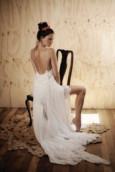 Low back lace beach wedding dress featuring thin by Graceloveslace