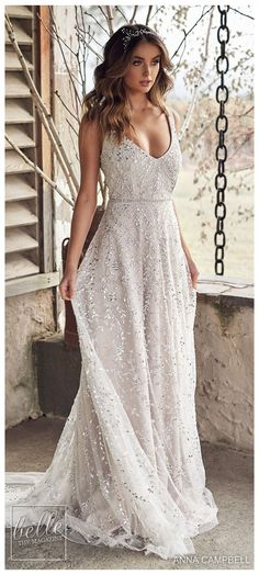 Wedding Dress Empire, V Neck Wedding Dress, Gorgeous Wedding Dress, Cheap Wedding Dress, Dream Wedding Dresses, Beaded Wedding Dresses, Wedding Dress Sparkle, Beige Wedding Dress, Designer Wedding Dresses