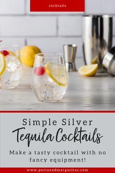 There are lots of ways to serve tequila from the classic drink with lime and salt. But I prefer tequila cocktails with d Healthy Cocktails, Fun Cocktails, Cocktail Drinks, Alcoholic Drinks, Mezcal Cocktails, Beverages, Drinks Alcohol, Tequila Mixed Drinks, Tequila Tequila