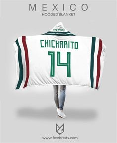 Javier Chicharito Mexico Away Jersey 2018 Hooded Blanket - FIFA World Cup  Mexico Away Jersey 4b5a15738