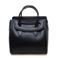 ALEXANDER MCQUEEN 'Heroine' Grained Leather Handbag ($2,655) ❤ liked on Polyvore