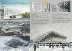[A3N] : Pushkinsky Theater Competition / 1st Prize: Frozen in Time  Design: J.A. Diaz Parra, C. Kentish, E. Sam Soom (Singapore)