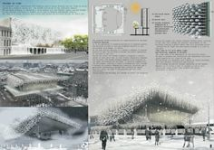 [A3N] : Pushkinsky Theater Competition / 1st Prize: Frozen in Time  Design: J.A. Diaz Parra, C. Kentish, E. Sam Soom (Singapore)