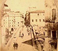 Foto storiche di Roma - Ponte Sisto Anno: 1863