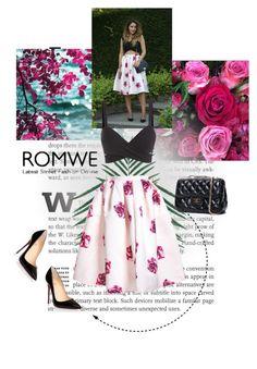 """Romwe 6/10"" by lejlamekic ❤ liked on Polyvore featuring Christian Louboutin and romwe"