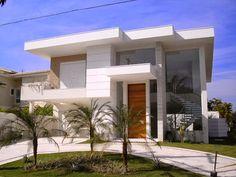 fachadas modernas com telhado - Pesquisa Google
