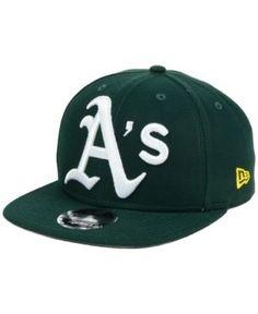 New Era Oakland Athletics Logo Grand 9FIFTY Snapback Cap - Green Adjustable