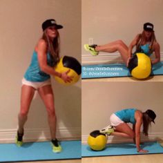 What will your workout be today? Or is it a rest day?  Just some more #abwork. With a medicine ball or dumbbell, side step w/rotation (this one can be done FAST & is more of a cardio exercise that works the core too ..good for those who can't JUMP but need to get the heart rate up!), #russiantwists with feet up, & tucks or pikes!
