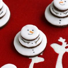 Snowman cookies cookie swap next year!