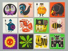 Vintage Snap Cards via Present & Correct