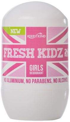 Keep It Kind Fresh Kidz Girls Deodorant, 1.86 Fluid Ounce Keep It Kind http://www.amazon.com/dp/B00GXORHF8/ref=cm_sw_r_pi_dp_35ZIub0492TCD