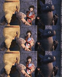Toothless hahaha Hiccup is more in trouble tho XDD<<<<yes