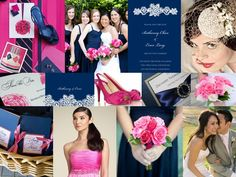 Blue and pink wedding color scheme