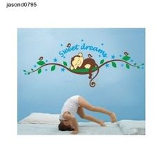 Childs Bedroom Wall Art Dream Sleeping MonkeyTree Wall Decal Sticker Decorations