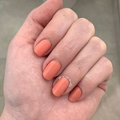 Gorgeous solid shade in a peachy tone. A shade of Sherbet Us Nails, Love Nails, Neutral Colors, Nail Colors, Crazy Eyes, Nail Polish Strips, Acetone, Blue Zircon, Nail Wraps