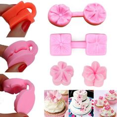 Flower Petal Silicone Fondant Mold Cake Decorating Chocolate Baking Mould Tools in Home & Garden, Kitchen, Dining & Bar, Baking Accs. Creative Cake Decorating, Cake Decorating Tools, Cake Decorating Techniques, Chocolate Fondant, Chocolate Molds, Fondant Molds, Cake Mold, Chocolate Flowers, Gum Paste Flowers