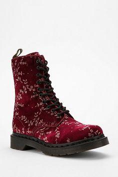 I would marry this boot. Dr. Martens Avery Velvet 10-Eye Boot